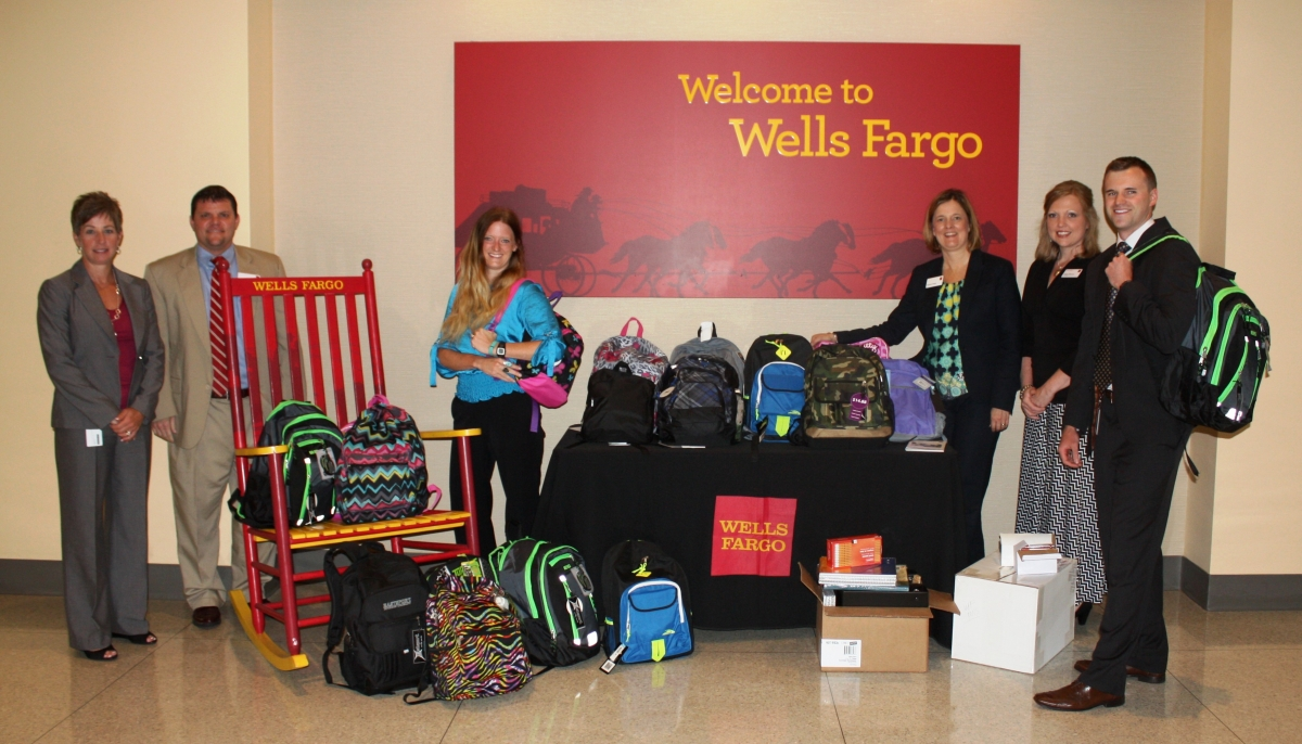 Wells Fargo School Supply Drive