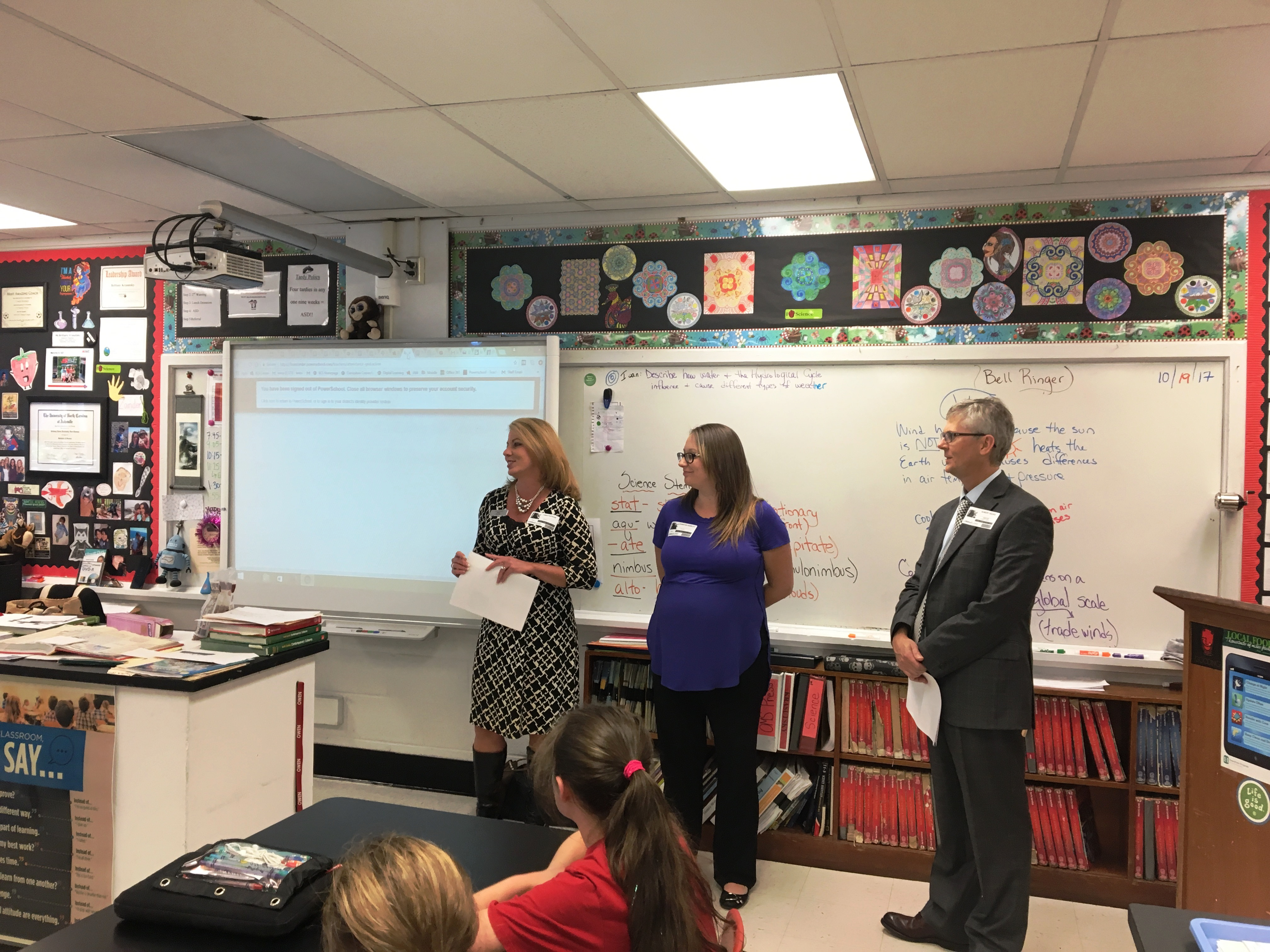 BB&T dispatched these professionals to teach Owen Middle School students financial literacy