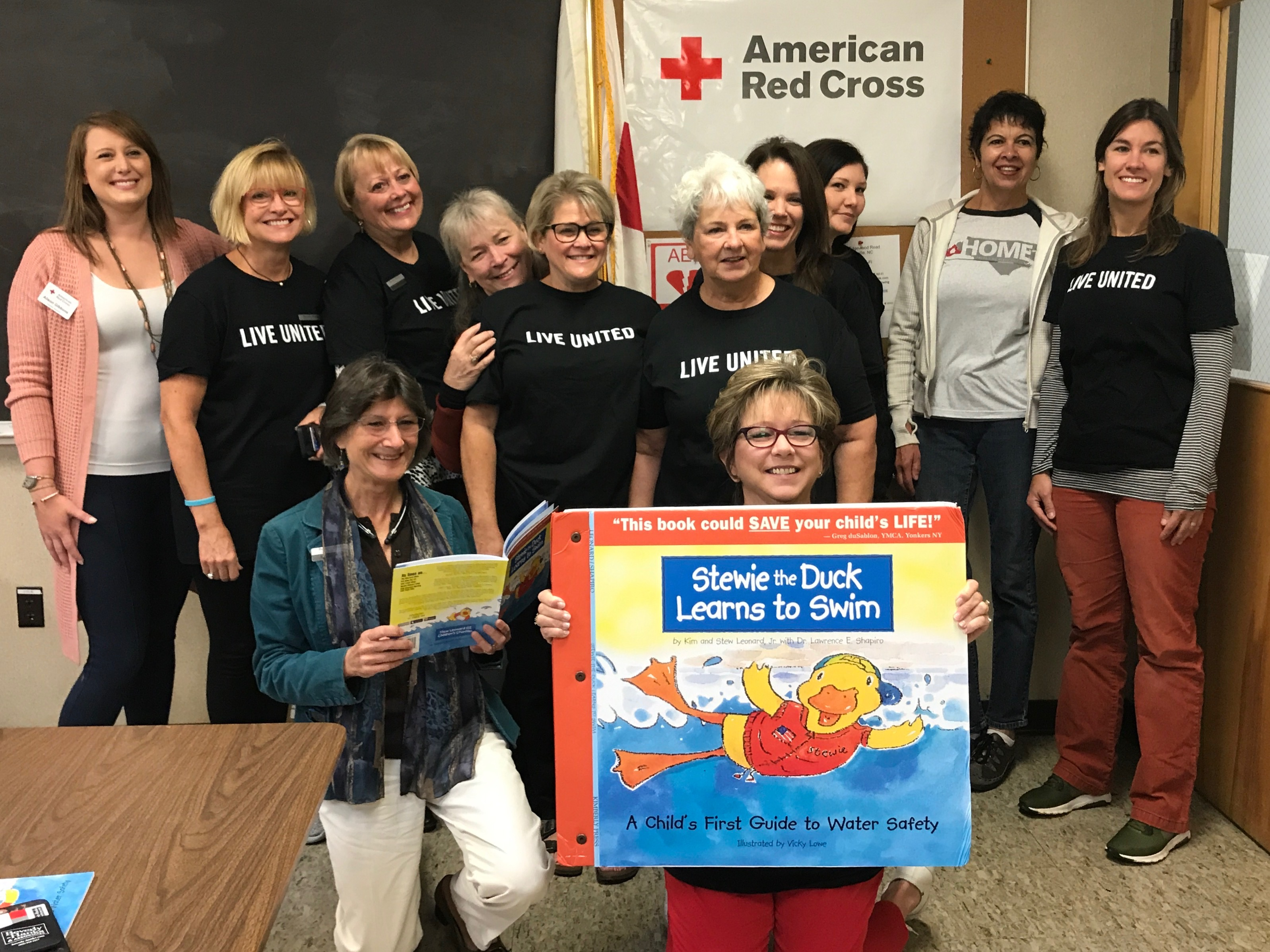 These women from Beverly Hanks spent their morning learning to sing a swimming safety song and then got to perform for 2, 3 and 4 year olds at First Presbyterian's childcare center.