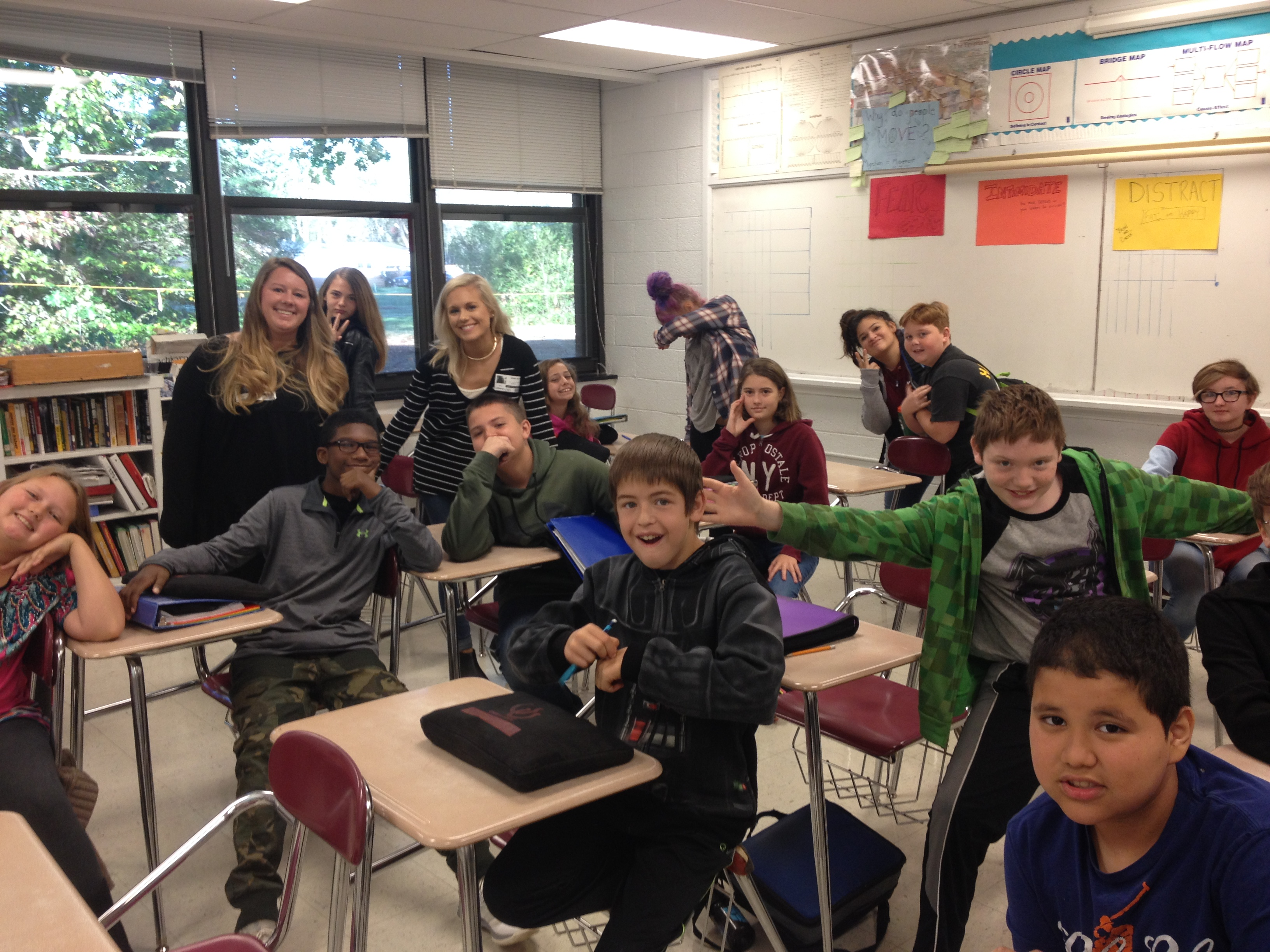 Dixon Hughes Goodman spent the day with students at Owen Middle