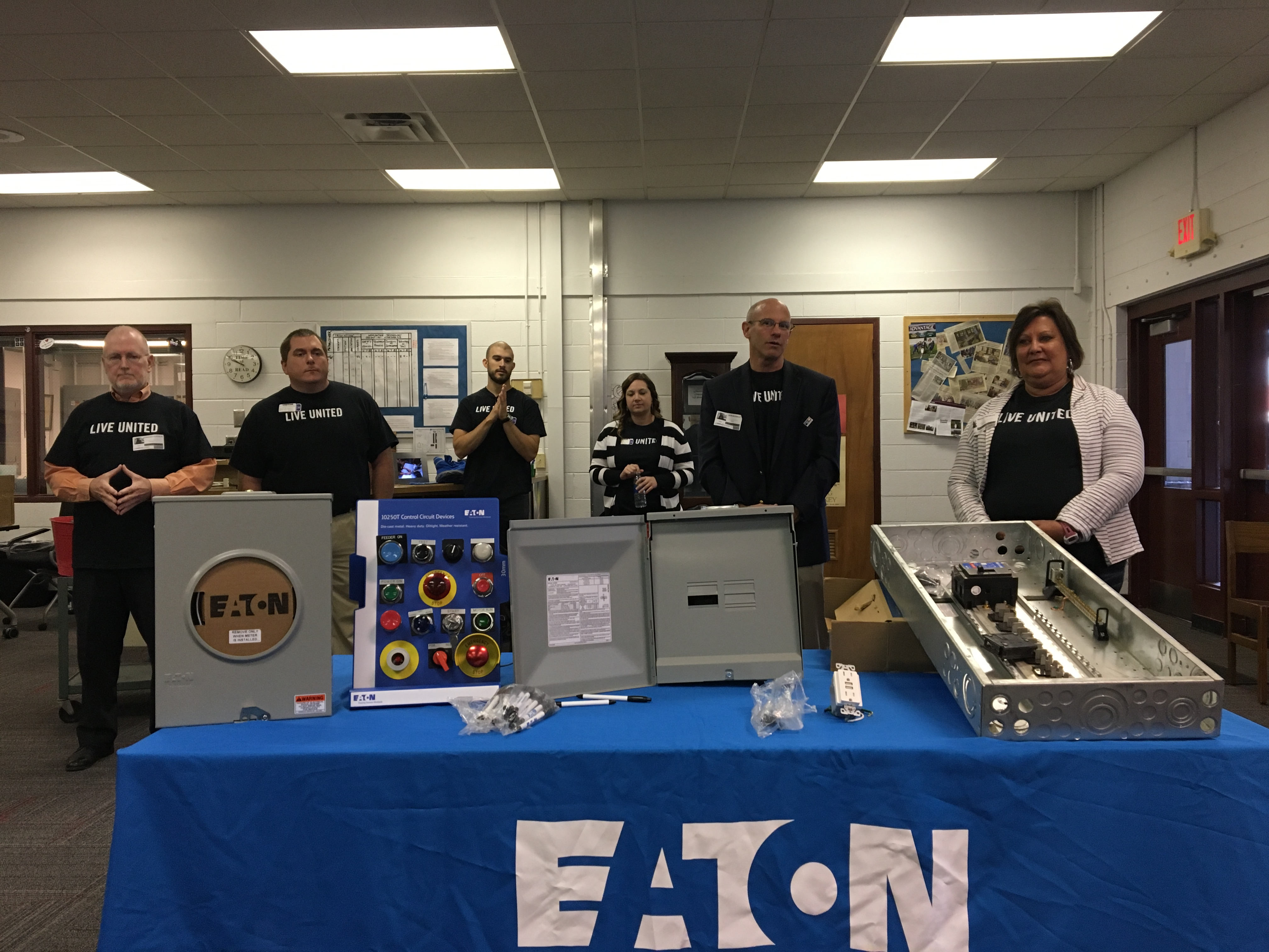 Eaton shared some behind the scenes information with Owen Middle students