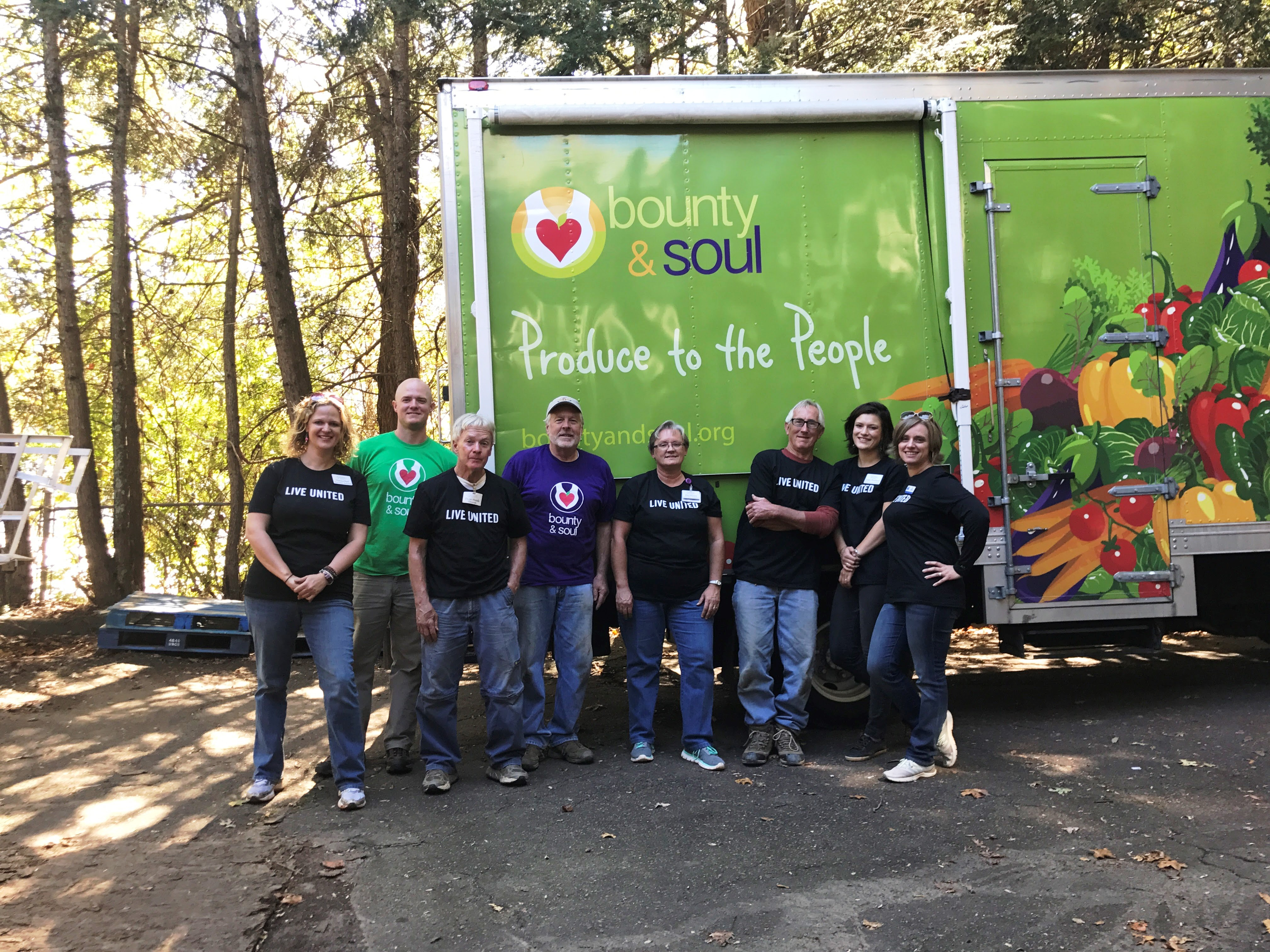 Givens Highland Farms helped Bounty & Soul with landscaping projects