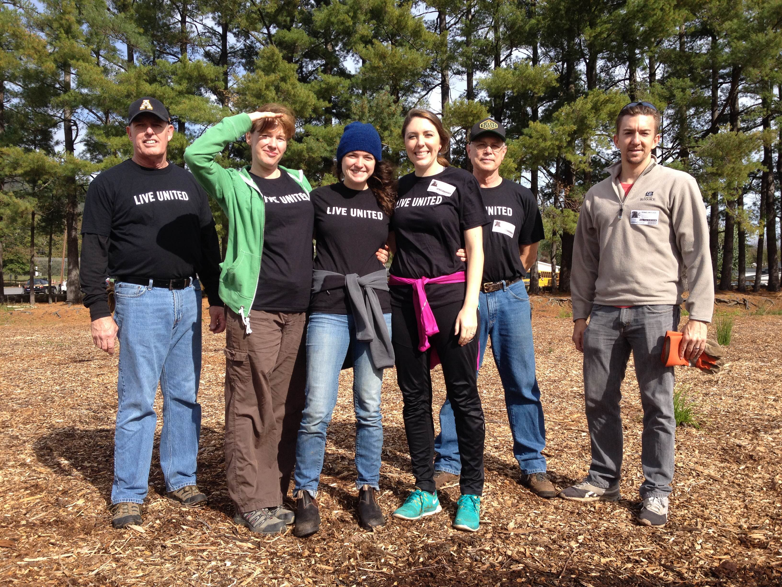 A fine crew from Young Office continued our efforts to build a low ropes course out at Owen Middle