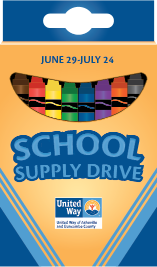 United Way Asheville School Supply Drive 2020